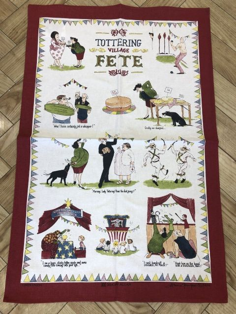 Samuel Lamont Tottering Garden Party Linen Union Tea Towel - Linen Blend